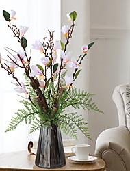abordables -Fleurs artificielles 1 Une succursale Classique Elégant Orchidées Fleur de Table