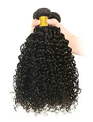 baratos -6 pacotes Cabelo Indiano Kinky Curly Não processado / Cabelo Humano Ternos de Cosplay / Cabelo Humano Ondulado / Presentes para Festa de Chá 8-28 polegada Tramas de cabelo humano S. Valentim / Macio