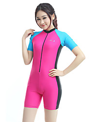 cheap -Bluedive Women's Dive Skin Suit SPF50, UV Sun Protection, Quick Dry Chinlon Short Sleeve Swimwear Beach Wear Diving Suit Swimming / Diving / Surfing / High Elasticity