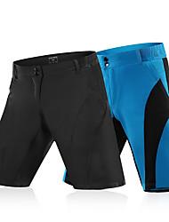 Недорогие -WOSAWE Муж. Велобрюки / Велошорты Велоспорт Шорты для горного велосипеда / Нижняя часть Полиэстер Черный / Синий и черный Одежда для велоспорта