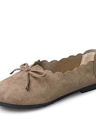 baratos -Mulheres Sapatos Camurça Verão Conforto Mocassins e Slip-Ons Salto Baixo Preto / Verde Tropa / Castanho Claro