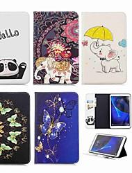 Недорогие -Кейс для Назначение SSamsung Galaxy Tab A 10.1 (2016) Кошелек / Бумажник для карт / со стендом Чехол Слон Твердый Кожа PU