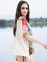 Недорогие -Жен. С открытыми плечами Классический Накидка - С принтом, Юбки Цветочный принт Цветок солнца