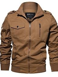 Недорогие -Муж. Куртка Классический - Однотонный