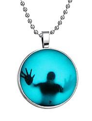 Недорогие -Муж. Светящийся камень Длиные Ожерелья с подвесками - Креатив Мода Синий 60 cm Ожерелье Бижутерия 1шт Назначение Halloween, Для клуба