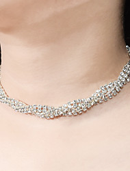 cheap -Dance Accessories Boutique / Clip-On Women's Performance Alloy Metal Chain / Crystals / Rhinestones Fashion / All Occasions Necklace