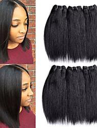 Недорогие -Remy плетение волос Лучшее качество / Новое поступление / Для темнокожих женщин Бразильские волосы Средняя длина 300 g Более года Для сцены / Карнавал / Свадебные прием