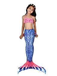 preiswerte -Die kleine Meerjungfrau Bademode / Bikini / Kostüm Mädchen Halloween / Karneval Fest / Feiertage Halloween Kostüme Tintenblau Meerjungfrau Retro