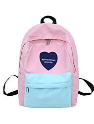 cheap -Women's Bags Nylon School Bag Zipper Black / Blushing Pink / Gray