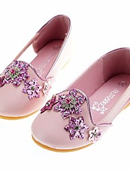 cheap -Girls' Shoes Faux Leather Spring / Fall Comfort / Flower Girl Shoes Flats for Pink / Light Blue