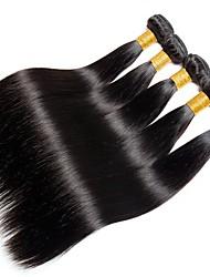 זול -6 צרורות שיער הודי ישר שיער ראמי טווה שיער אדם שיער Bundle פתרון חפיסה אחת 8-28inch צבע טבעי שוזרת שיער אנושי יָלוּד מפל מים Cute תוספות שיער אדם בגדי ריקוד נשים / לא מעובד