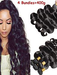 Недорогие -6 Связок Малазийские волосы Естественные кудри 100% Remy Hair Weave Bundles Человека ткет Волосы Пучок волос One Pack Solution 8-28 дюймовый Естественный цвет Ткет человеческих волос / Без запаха