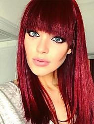Недорогие -Парики из искусственных волос Волнистый Омбре Стрижка боб Искусственные волосы Для вечеринок / Классический / синтетический Красный / Омбре Парик Жен. Средняя длина Без шапочки-основы Черный / Красный