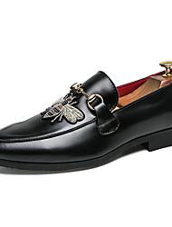 abordables -Homme Chaussures Formal Faux Cuir Automne hiver Chaussures formelles Mocassins et Chaussons+D6148 Blanc / Noir / Rouge / Mariage / Soirée & Evénement