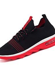 Недорогие -Муж. Полотно Лето Удобная обувь Кеды Белый / Черный / Черный / Красный