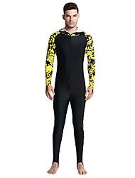 baratos -SBART Homens Segunda-pele para Mergulho SPF50, Proteção Solar UV, Secagem Rápida Tactel Corpo Inteiro Roupa de Banho Roupa de Praia Roupas de Mergulho Zíper Frontal Mergulho / Respirável / Respirável