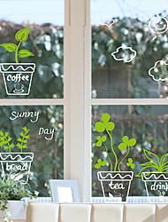 Недорогие -Оконная пленка и наклейки Украшение С цветами Цветочный принт ПВХ Стикер на окна