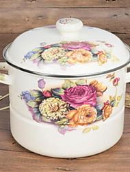 Недорогие -кухонная посуда Нержавеющая сталь Круглый Кастрюли и сковородки 1 pcs