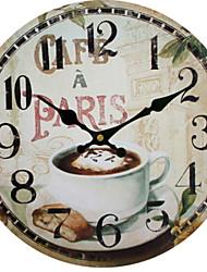 cheap -European Plastic & Metal Round Indoor,AA Batteries Powered Wall Clock
