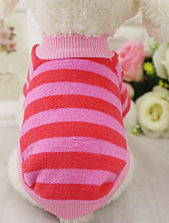 cheap -Dogs / Rabbits / Cats Sweatshirt Dog Clothes Stripe Stripe 100% Coral Fleece Costume For Pets Female Sweet Style / Leisure
