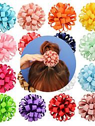 Недорогие -Резинка и Связи Аксессуары для волос Шёлковая ткань рипсового переплетения парики Аксессуары Девочки 20pcs штук 7 см см На каждый день Украшения для волос обожаемый