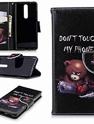 abordables -Coque Pour Nokia Nokia 5.1 / Nokia 3.1 Portefeuille / Porte Carte / Avec Support Coque Intégrale Mot / Phrase Dur faux cuir pour Nokia 8 / Nokia 6 / Nokia 6 2018