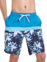 cheap -SBART Men's Swim Shorts Waterproof, Quick Dry, Wearable Polyester / Spandex Swimwear Beach Wear Board Shorts Reactive Print Surfing / Beach / Water Sports / Stretchy / Breathable / Breathable