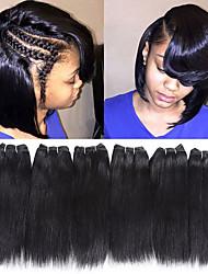 Недорогие -Remy плетение волос Лучшее качество / Новое поступление / Для темнокожих женщин Индийские волосы Средняя длина 300 g Более года Для сцены / Карнавал / Свадебные прием