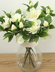abordables -Fleurs artificielles 1 Une succursale Classique Oriental Gardénia Fleur de Table
