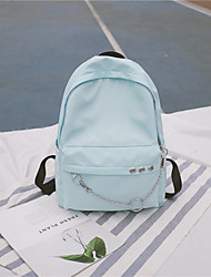 cheap -Women's Bags Canvas School Bag Zipper Black / Red / Blushing Pink