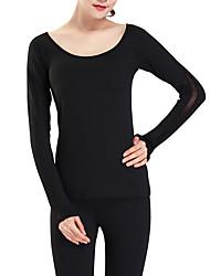 baratos -Mulheres Camiseta Activo / Básico Frente Única, Sólido