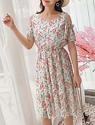 cheap -women's basic a line dress knee-length