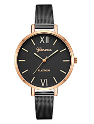 cheap -Geneva Women's Dress Watch / Wrist Watch Chinese New Design / Casual Watch / Cool Alloy Band Casual / Fashion Black / Silver / One Year