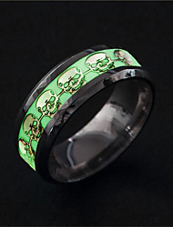 cheap -Men's Luminous Stone Vintage Style Band Ring - Stainless Steel Classic, Cowboy, Rock 6 / 7 / 8 Silver For Carnival / Date