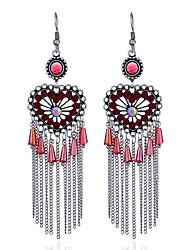 cheap -Women's Diamond Stylish Drop Earrings - Luxury, Dangling Style, Anime Red / Green / Light Blue For Formal / Date