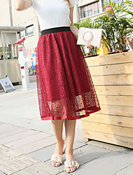 cheap -Women's Going out A Line Skirts - Solid Colored