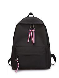 baratos -Mulheres Bolsas Tela de pintura mochila Ziper Vermelho / Rosa / Roxo