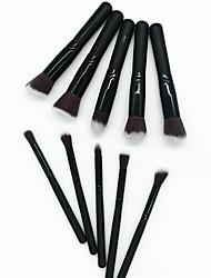 economico -Pacco da 10 Pennelli per il trucco Professionale Set di pennelli Pennello di fibre artificiali / Pennello di nylon Ecologico / Professionale / Soffice Legno / bambù
