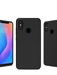 cheap -Case For Xiaomi Mi 8 Embossed Back Cover Lines / Waves Hard Carbon Fiber for Xiaomi Mi 8