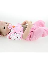 Недорогие -NPKCOLLECTION NPK DOLL Куклы реборн Кукла для девочек Девочки 24 дюймовый Полный силикон для тела Винил - как живой Подарок Искусственная имплантация Коричневые глаза Детские Девочки Игрушки Подарок