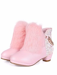 cheap -Girls' Shoes Synthetics Winter Comfort / Fashion Boots Boots for White / Pink / Booties / Ankle Boots