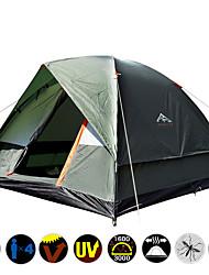 abordables -3 personas Tiendas de Campaña para Senderismo Doble Capa Palo Carpa para camping Al aire libre Resistente a la lluvia, Resistente al Viento, Transpirabilidad para Camping / Senderismo / Cuevas