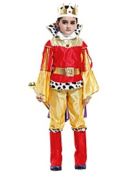 baratos -Fantasias Roupa Para Meninos Dia Das Bruxas / Carnaval / Dia da Criança Festival / Celebração Trajes da Noite das Bruxas Amarelo Sólido / Halloween Dia Das Bruxas