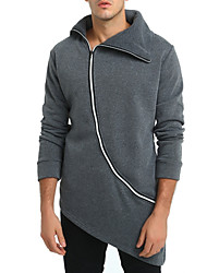 cheap -Men's Long Sleeve Sweatshirt - Solid Colored