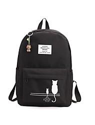 Недорогие -Жен. Мешки холст рюкзак Молнии Пурпурный / Светло-серый / Небесно-голубой