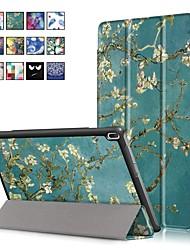Недорогие -Кейс для Назначение Lenovo Lenovo Tab 4 10 Plus / Lenovo Tab 4 10 со стендом / Магнитный Чехол Масляный рисунок Твердый Кожа PU
