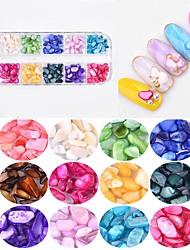 abordables -Joyas de Uñas Diseños de Moda / Colorido arte de uñas Manicura pedicura Moderno / De moda Ropa Cotidiana / Joyería de uñas