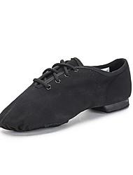 Недорогие -Девочки Обувь для джаза / Обувь для модерна Полотно На плоской подошве / Кроссовки На плоской подошве Танцевальная обувь Черный