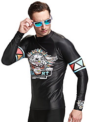 cheap -SBART Men's Diving Rash Guard SPF50, UV Sun Protection, Quick Dry Spandex Long Sleeve Swimwear Beach Wear Sun Shirt / Top Solid Colored Swimming / Diving / Surfing