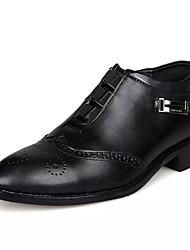 baratos -Homens Sapatos formais Pele Verão Botas Botas Curtas / Ankle Preto / Marron